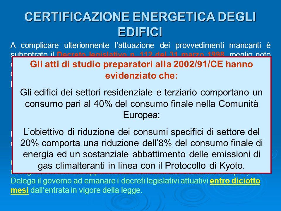 impiego dell'energia nel settore civile - ppt scaricare - Consumi Casa Certificazioni A Trieste