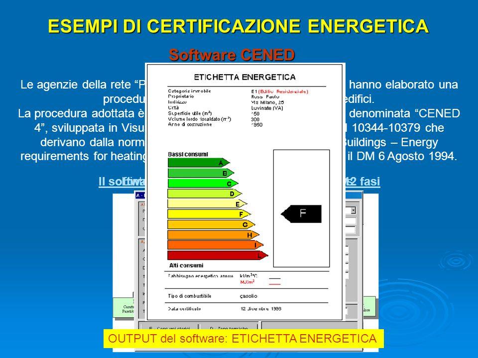 ESEMPI DI CERTIFICAZIONE ENERGETICA