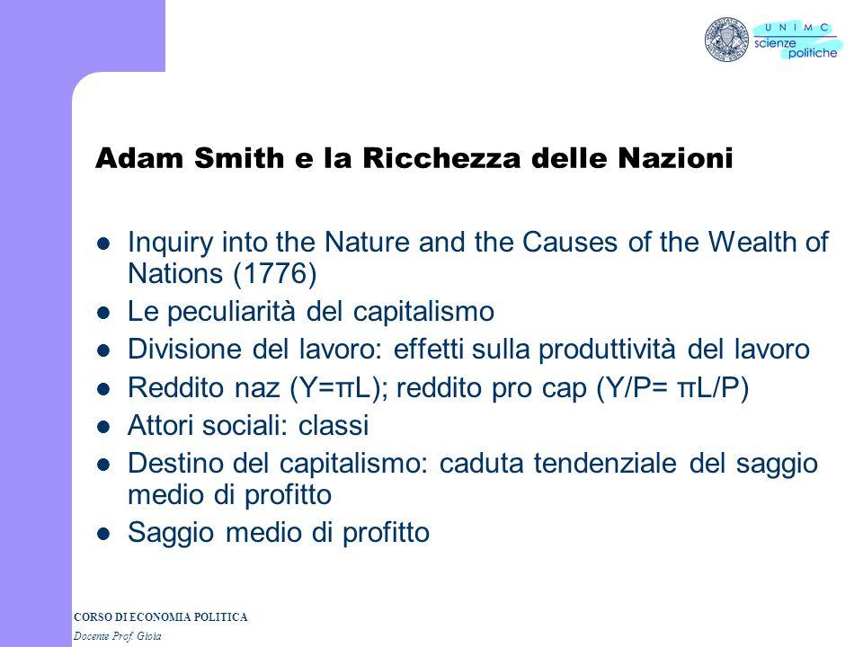 Adam Smith e la Ricchezza delle Nazioni