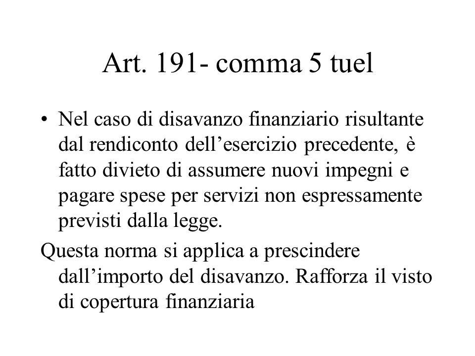 Art. 191- comma 5 tuel