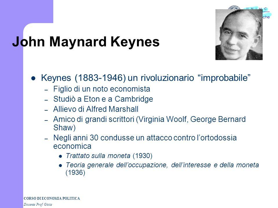 John Maynard Keynes Keynes (1883-1946) un rivoluzionario improbabile