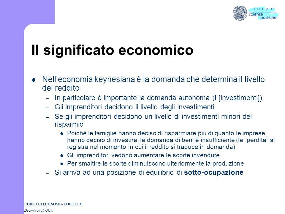 Il significato economico