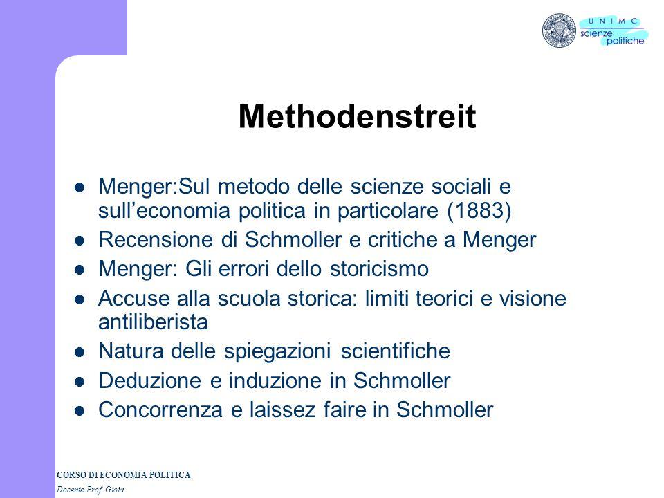 Methodenstreit Menger:Sul metodo delle scienze sociali e sull'economia politica in particolare (1883)