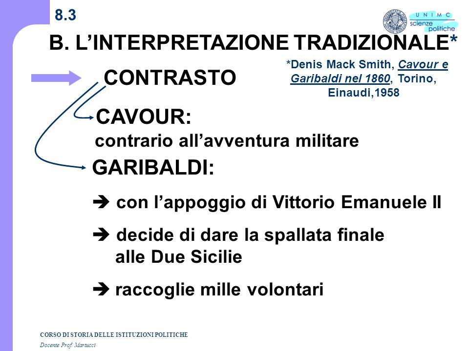 *Denis Mack Smith, Cavour e Garibaldi nel 1860, Torino, Einaudi,1958