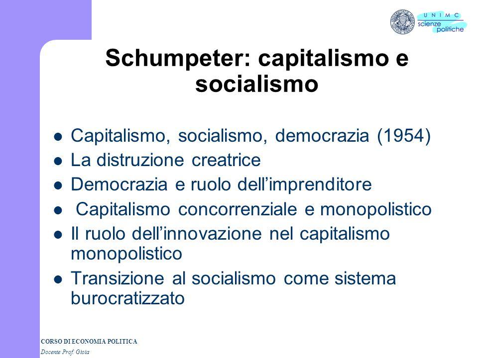 Schumpeter: capitalismo e socialismo