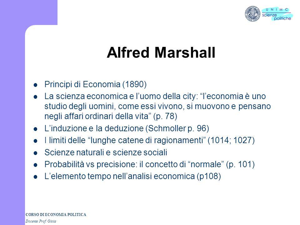 Alfred Marshall Principi di Economia (1890)