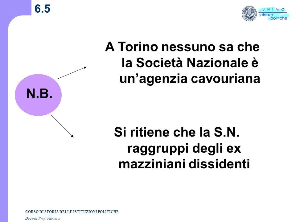 A Torino nessuno sa che la Società Nazionale è un'agenzia cavouriana