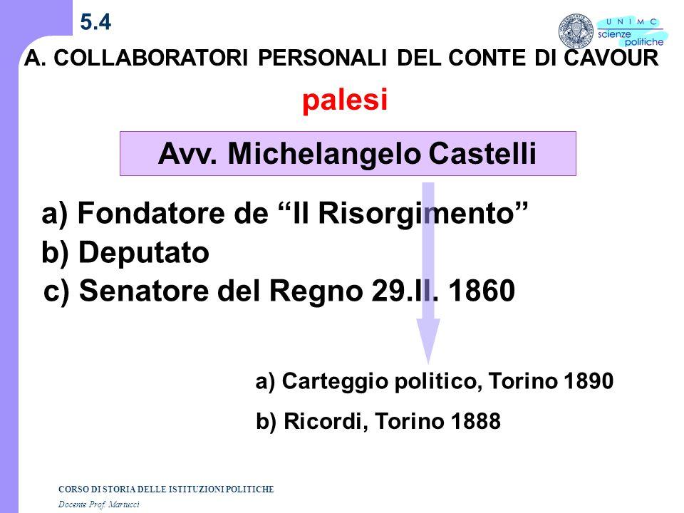 Avv. Michelangelo Castelli