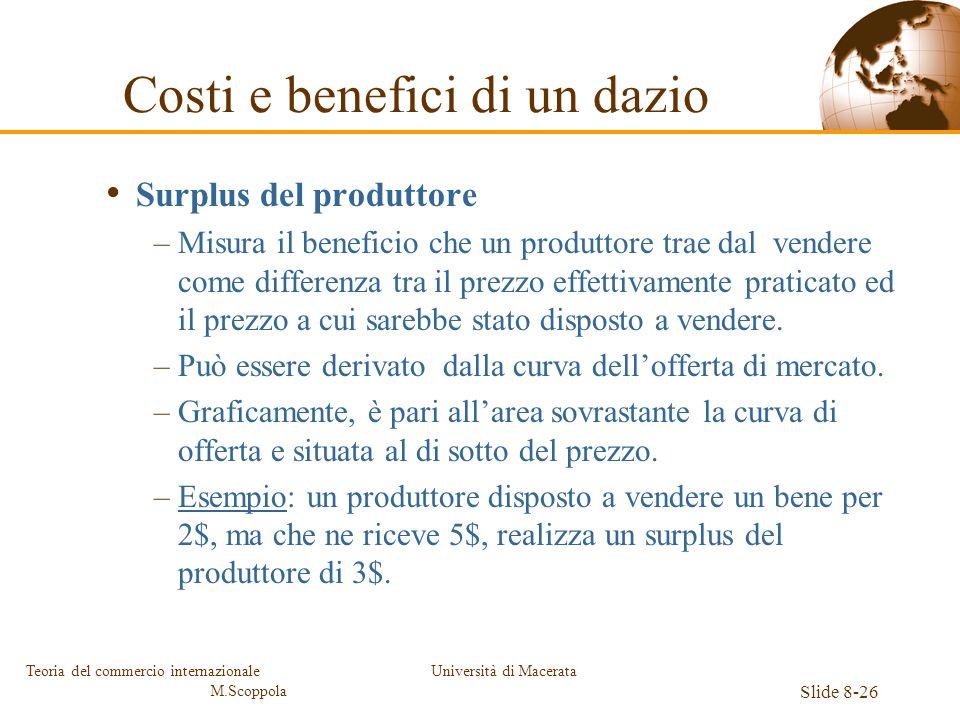 Costi e benefici di un dazio