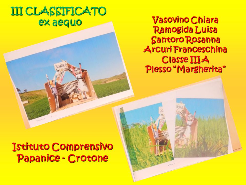 III CLASSIFICATO ex aequo