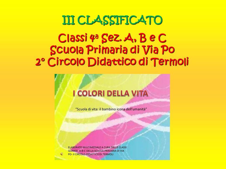 III CLASSIFICATO Classi 4a Sez