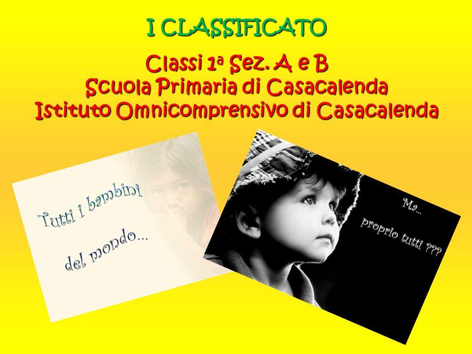 I CLASSIFICATO Classi 1a Sez