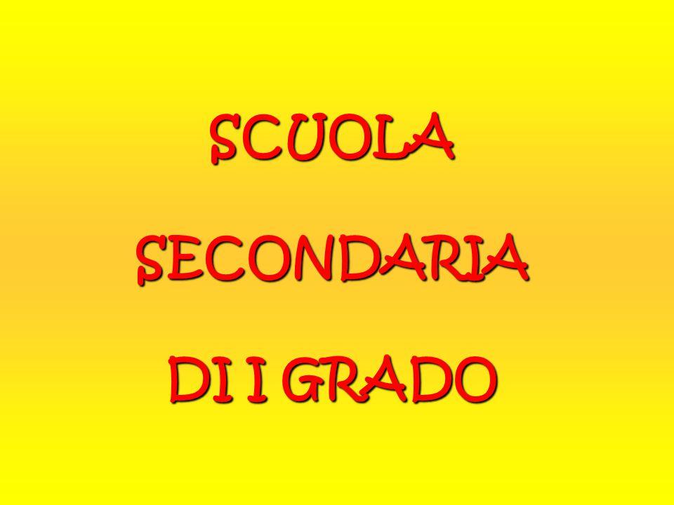 SCUOLA SECONDARIA DI I GRADO
