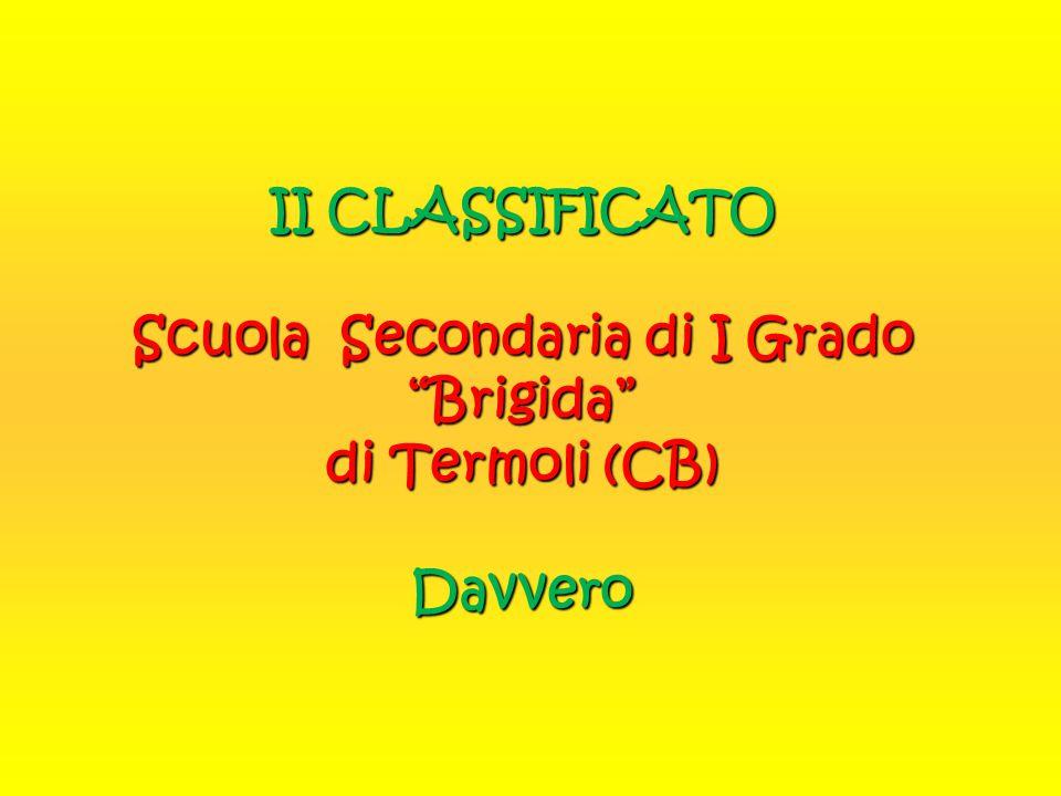 II CLASSIFICATO Scuola Secondaria di I Grado Brigida di Termoli (CB) Davvero