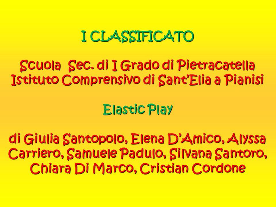 I CLASSIFICATO Scuola Sec