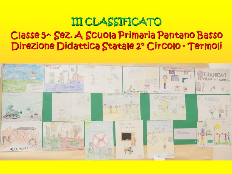 III CLASSIFICATO Classe 5^ Sez