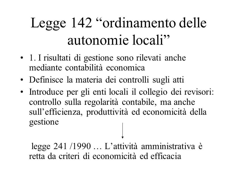 Legge 142 ordinamento delle autonomie locali
