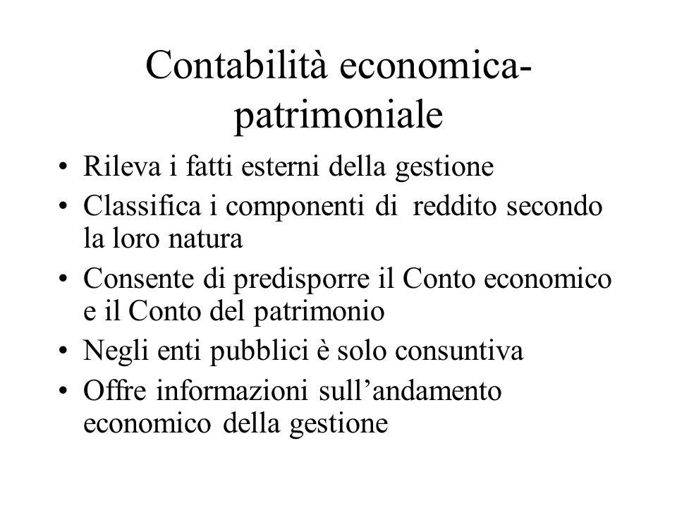 Contabilità economica- patrimoniale