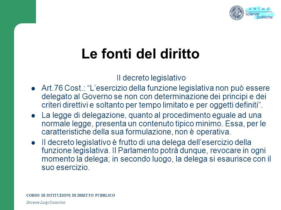 Il decreto legislativo