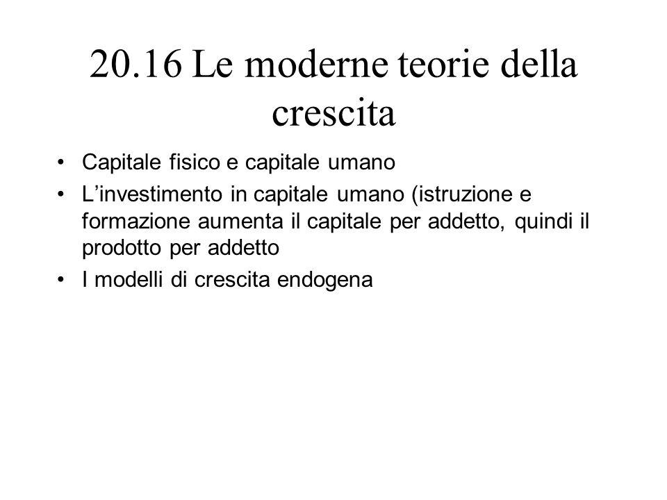 20.16 Le moderne teorie della crescita