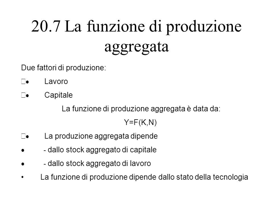 20.7 La funzione di produzione aggregata