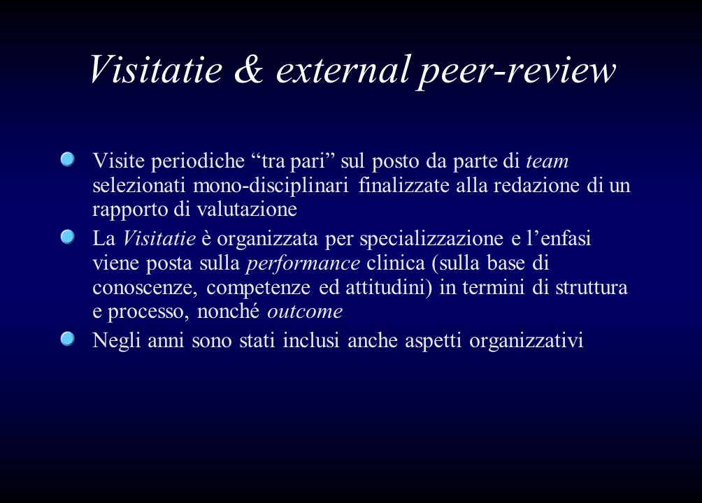 Visitatie & external peer-review