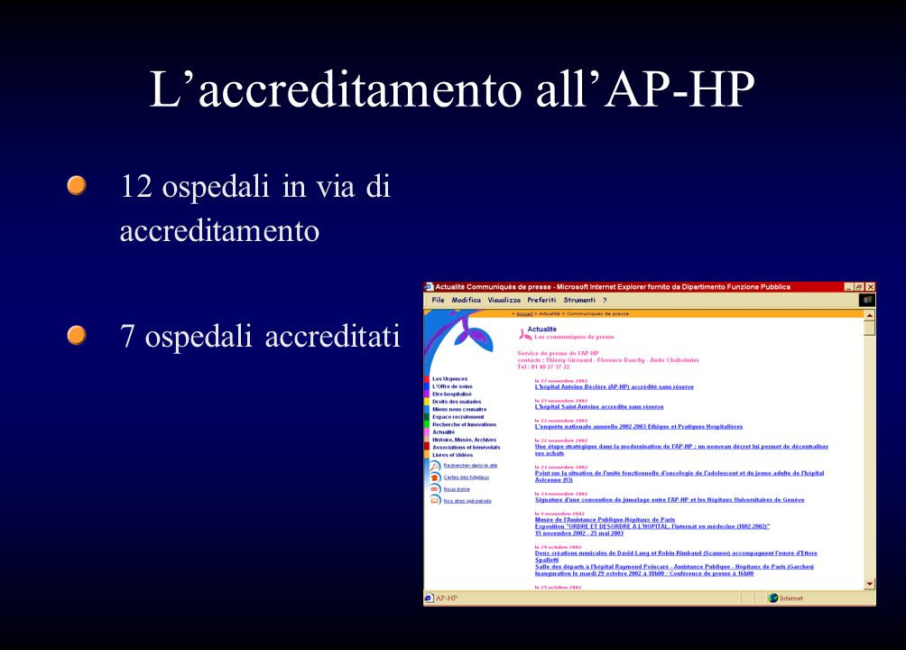 L'accreditamento all'AP-HP