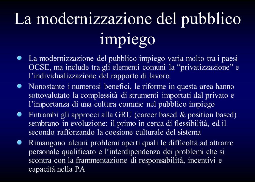 La modernizzazione del pubblico impiego