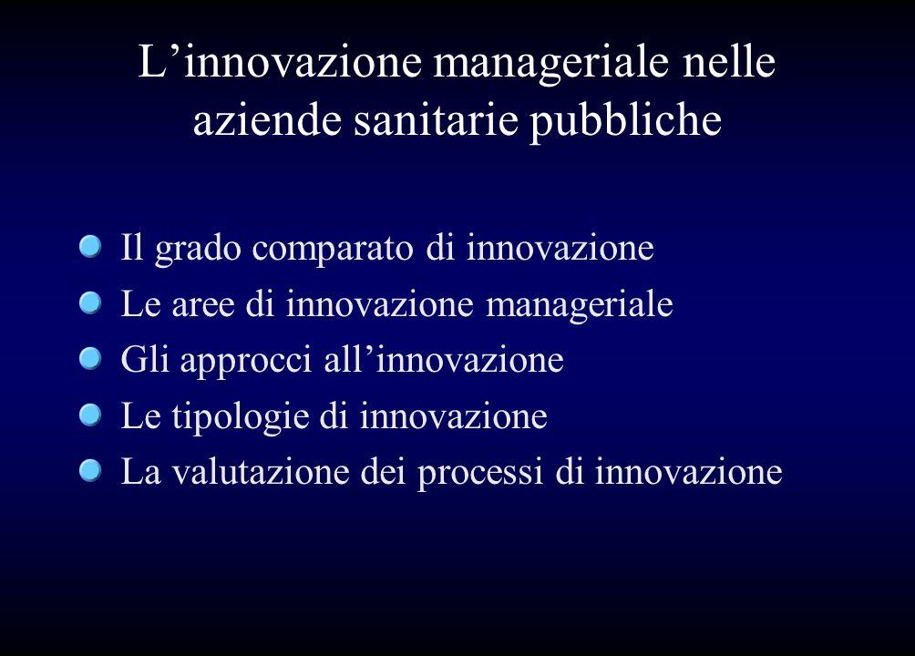 L'innovazione manageriale nelle aziende sanitarie pubbliche