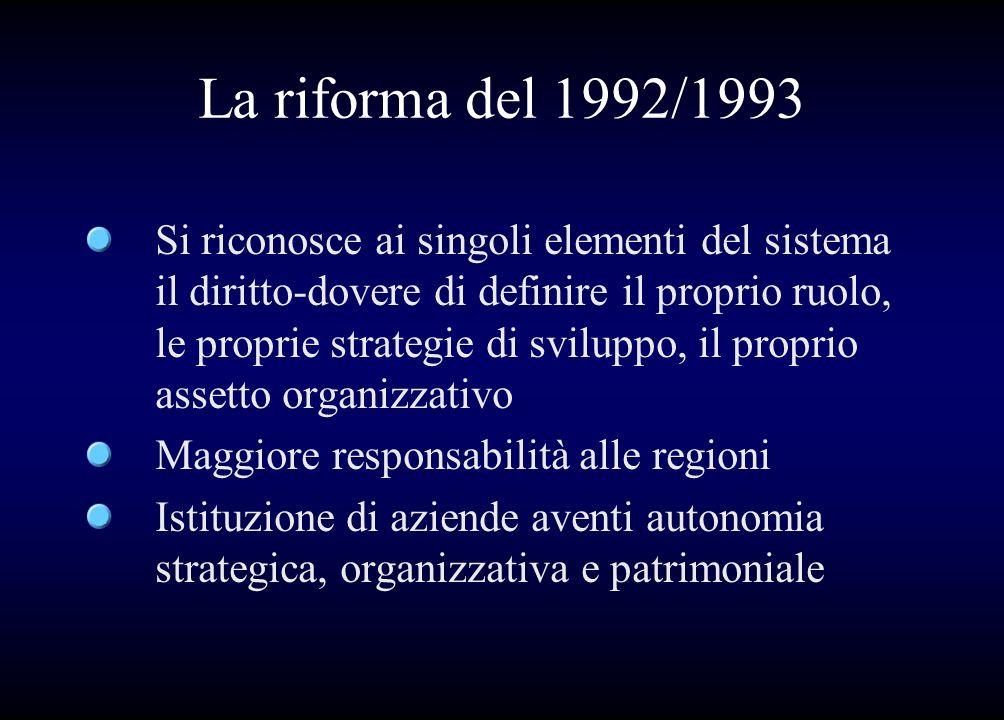 La riforma del 1992/1993