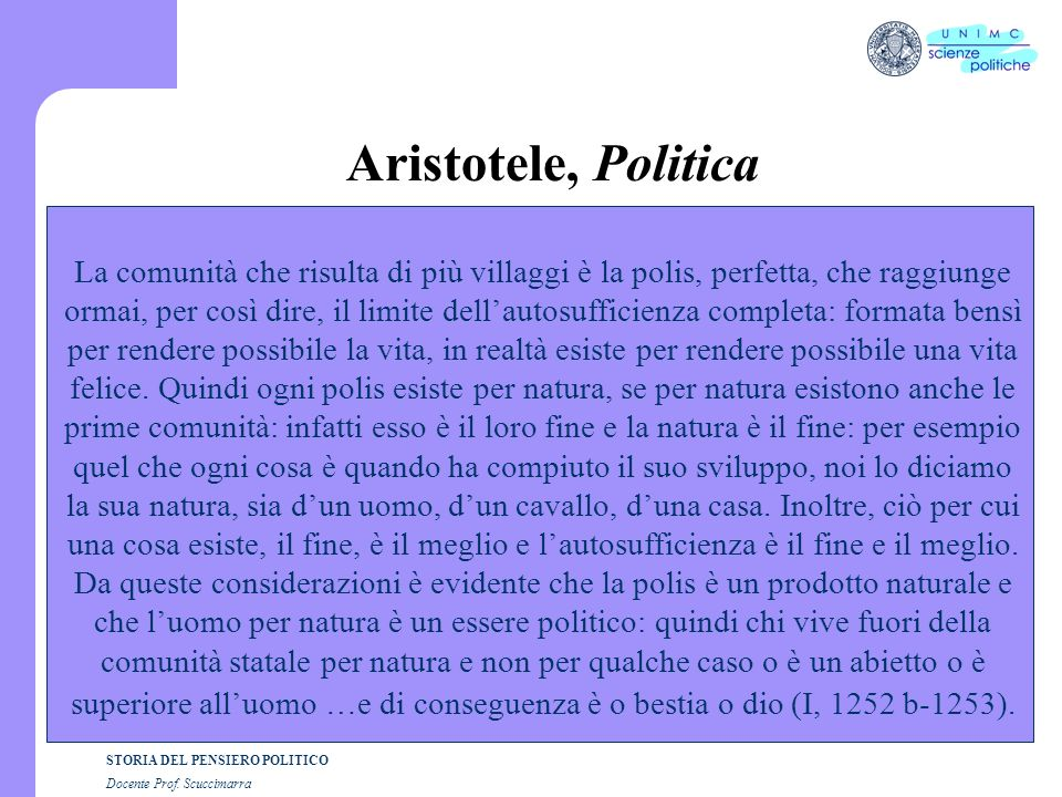 Aristotele, Politica