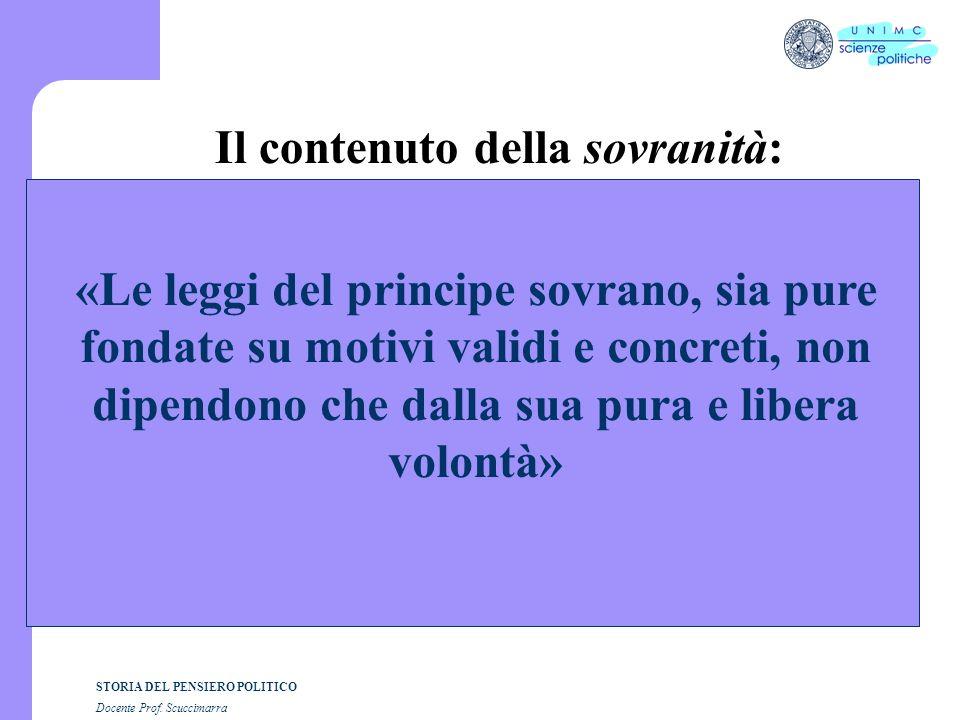 Il contenuto della sovranità: