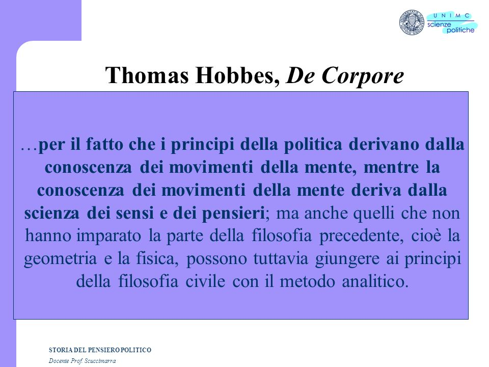 Thomas Hobbes, De Corpore