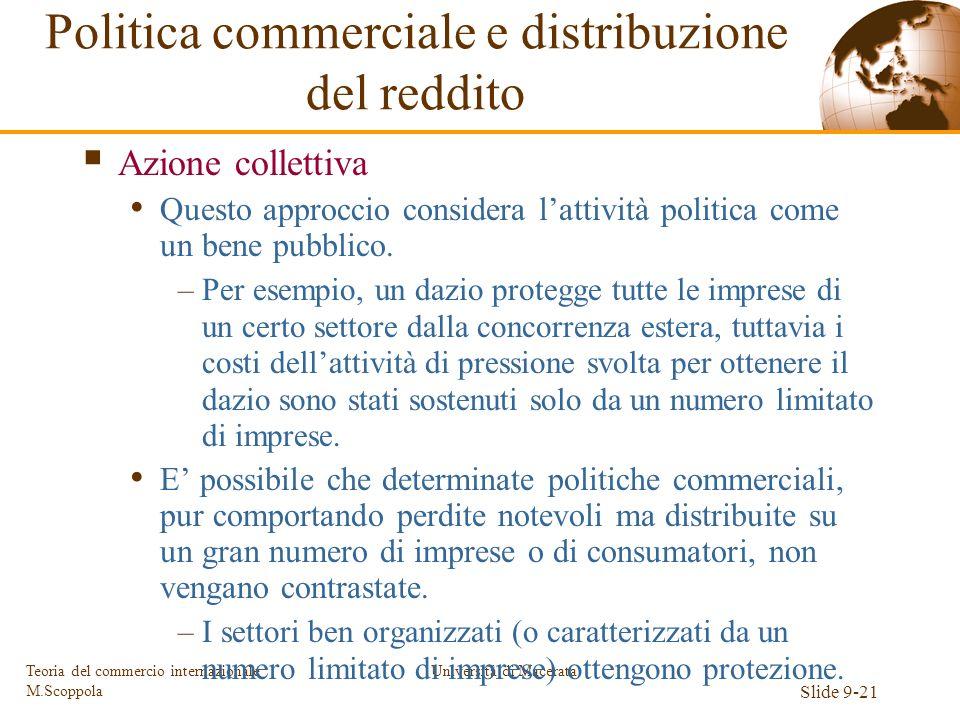 Politica commerciale e distribuzione del reddito