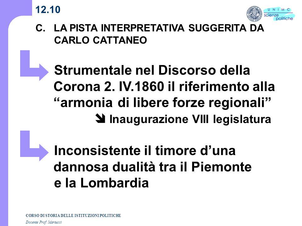Inconsistente il timore d'una dannosa dualità tra il Piemonte