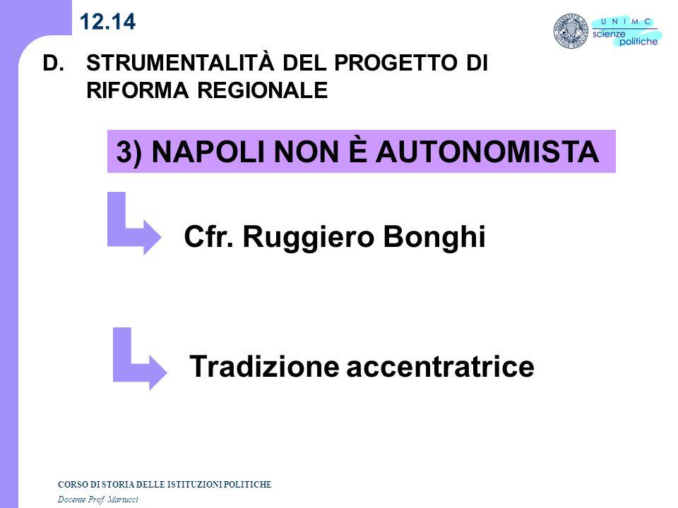 3) NAPOLI NON È AUTONOMISTA