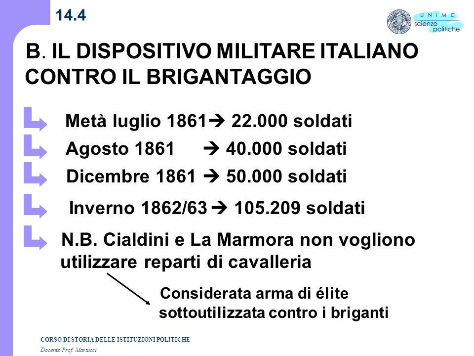 B. IL DISPOSITIVO MILITARE ITALIANO CONTRO IL BRIGANTAGGIO