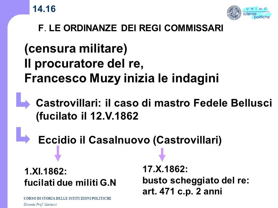 Francesco Muzy inizia le indagini