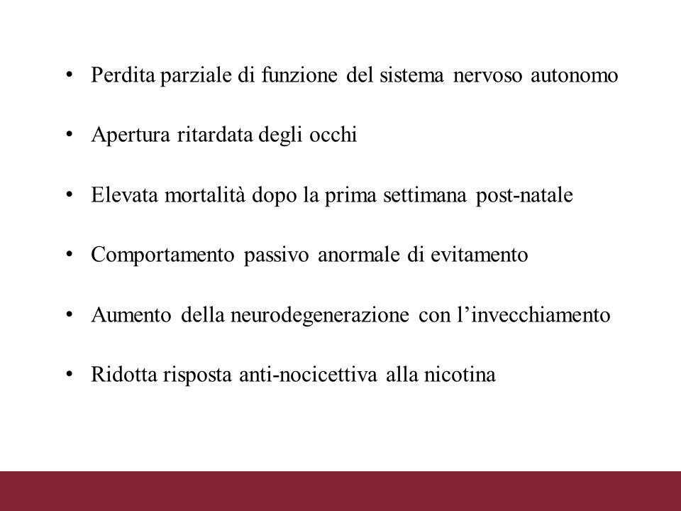 Perdita parziale di funzione del sistema nervoso autonomo