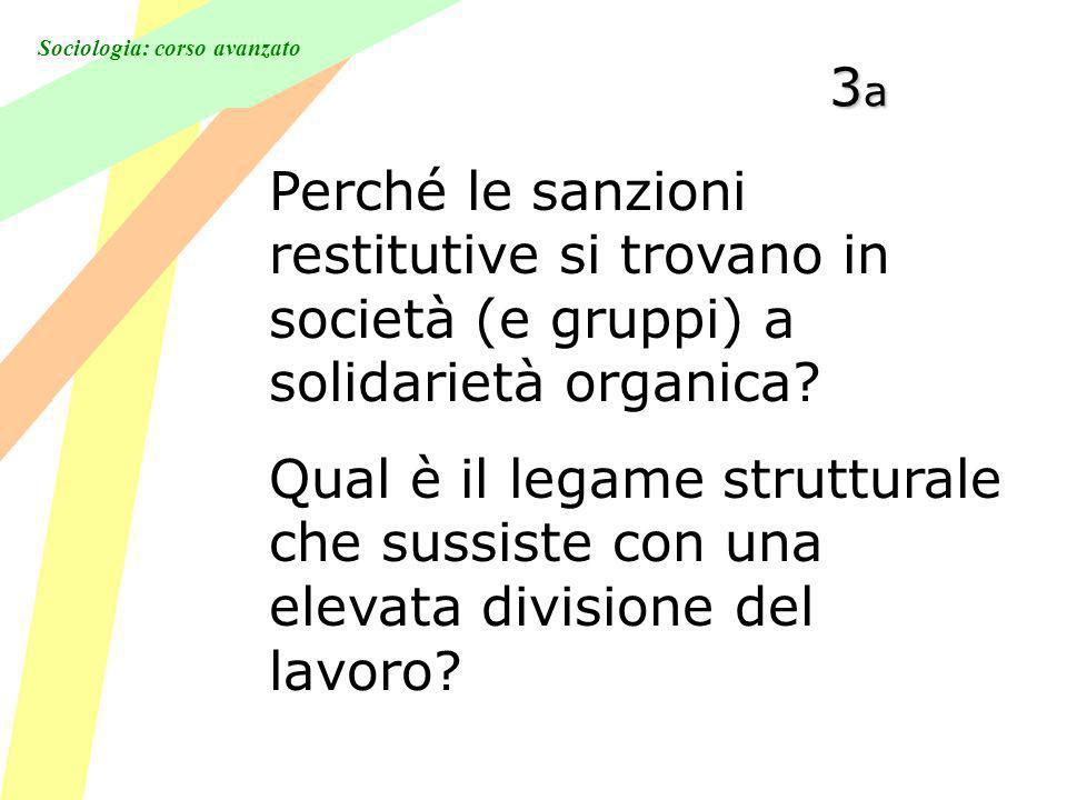 3a Perché le sanzioni restitutive si trovano in società (e gruppi) a solidarietà organica
