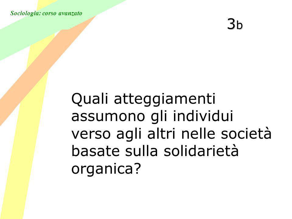 3b Quali atteggiamenti assumono gli individui verso agli altri nelle società basate sulla solidarietà organica