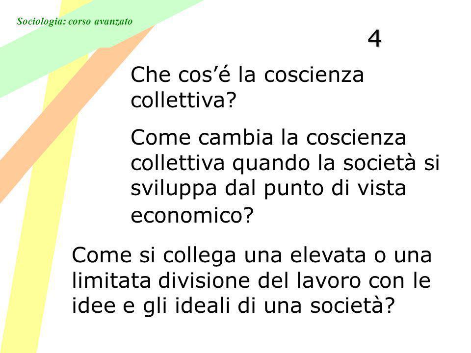 4 Che cos'é la coscienza collettiva