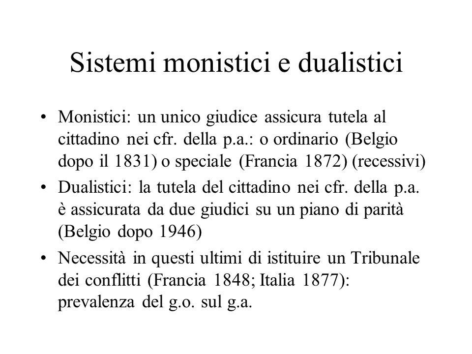 Sistemi monistici e dualistici