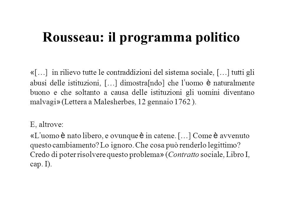 Rousseau: il programma politico