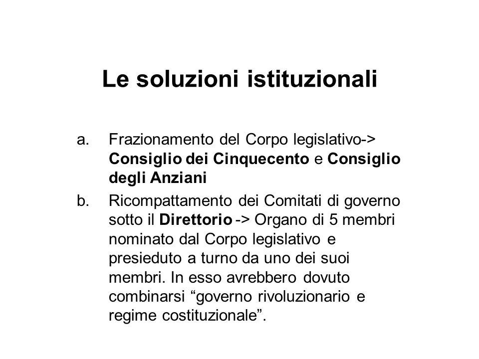 Le soluzioni istituzionali