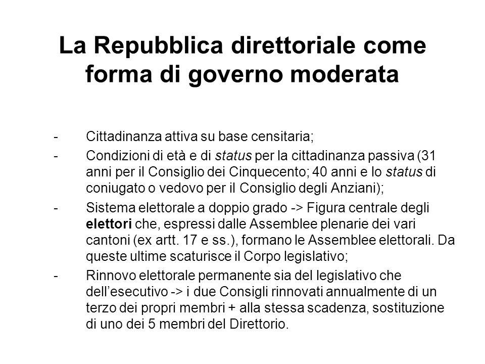 La Repubblica direttoriale come forma di governo moderata