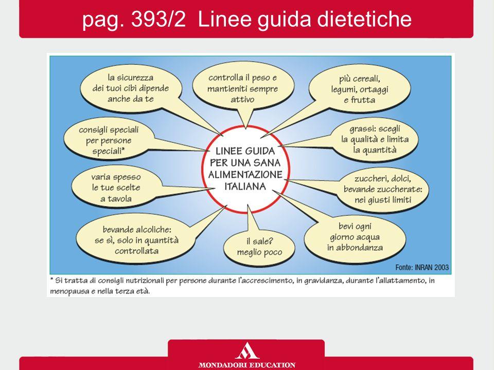 pag. 393/2 Linee guida dietetiche