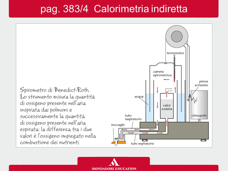 pag. 383/4 Calorimetria indiretta