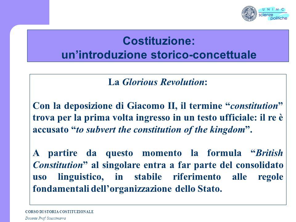 Costituzione: un'introduzione storico-concettuale