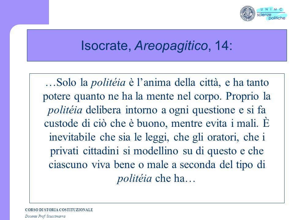 Isocrate, Areopagitico, 14: